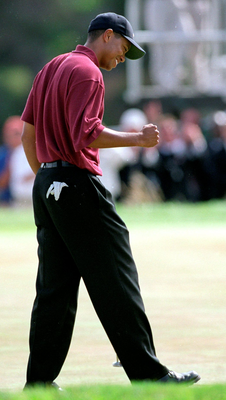 In 2000 'Woods scaled unprecedented heights of which a 15-stroke triumph in the US Open at Pebble Beach was his crowning glory' Photo: Jon Ferrey / Allsport / Getty Images