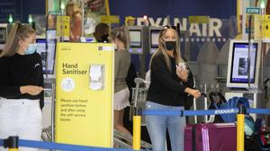 Travel: Passengers at the Ryanair check-in at Terminal 1 in Dublin. Photo: Colin Keegan/Collins Dublin