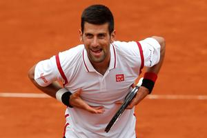 Novak Djokovic's victory over Steve Darcis was his 50th at Roland Garros. Photo: AP Photo/Michel Euler