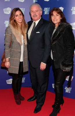 Marty Whelan with daughter Jessica and wife Maria at the opening night of Jersey Boys at the Bord Gais Energy Theatre,Dublin