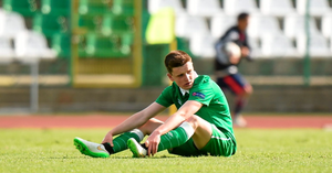 10 May 2015; Darragh Leahy, Republic of Ireland, after the game. UEFA U17 Championship Finals, Group D, Republic of Ireland v Italy. Stara Zagora, Bulgaria. Picture credit: Pat Murphy / SPORTSFILE