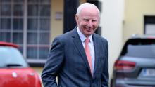 Pat Hickey pictured outside his house in Castleknock this morning. Pic: Justin Farrelly.
