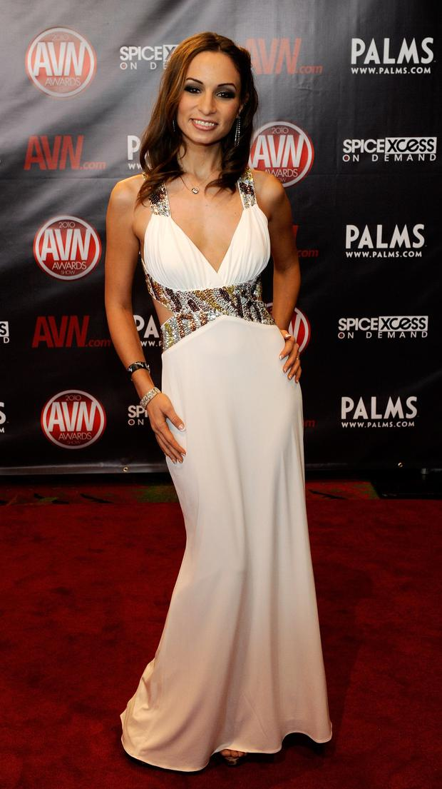 Adult film actress Amber Rayne arrives at the 27th annual Adult Video News Awards Show at the Palms Casino Resort January 9, 2010 in Las Vegas, Nevada. (Photo by Ethan Miller/Getty Images)