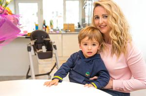 Alison Colllins with her two year old son Casey at home in Tower, Cork. Photo: Michael Mac Sweeney/Provision
