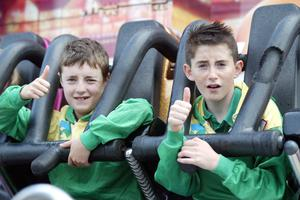 Taking time out at the Fun Fair John Finn and Darren McElwaine from Co. Donegal at HSE Community Games in AIT Athlone. Photo molloyphotography