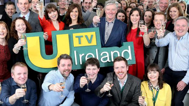 Pictured at the launch of UTV Ireland at the channel's headquarters and HD studios in Dublin's Docklands, on New Years Day, were staff and presenters of the channel