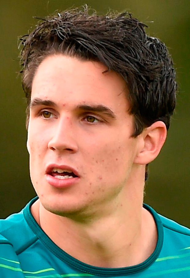 Joey Carbery of Ireland during squad training at Carton House, Maynooth, in Co. Kildare. Photo: Sportsfile