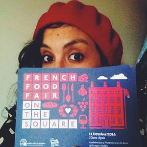Ketty Elisabeth (French Foodie in Dublin) organised the upcoming French Food Fair on the Square