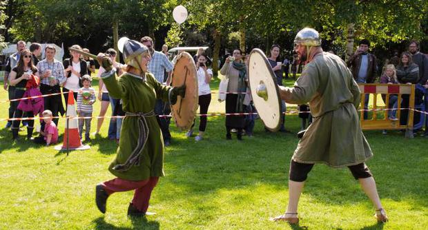 A sword fight at last year's festival Photo: Heritage week