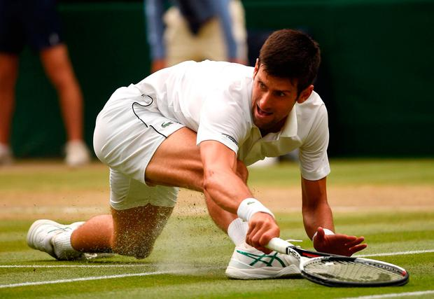 'Kevin Anderson and Djokovic (p) will both be shattered today.' Photo: AFP/Getty