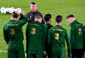 Ireland manager Stephen Kenny may not face a clash with Bosnia next month. Photo by Jussi Eskola/Sportsfile
