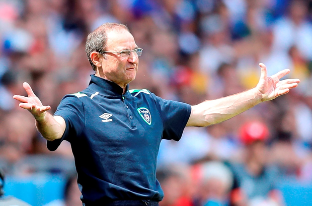 Martin O'Neill offers instruction. /Getty Images