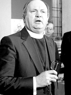 The late Bishop Eamon Casey. (Part of the Independent Newspapers Ireland/NLI Collection).