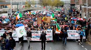 Water charge protest in Dublin