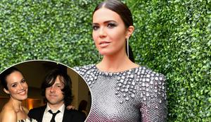 Mandy Moore, and Moore with ex-husband Ryan Adams, inset