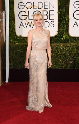 Golden Globes 2015: Actress Anna Faris is a vision in Reem Acra.