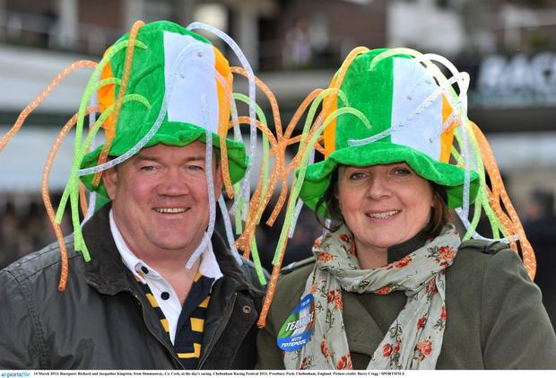 Racegoers Richard and Jacqueline Kingston, from Dunmanway, Co. Cork, at the day's racing.