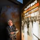 Unveiling the past: Dr Maurice Manning at the opening of the 'Irish Wars 1919-1923' exhibition last night. Photo: Mark Condren