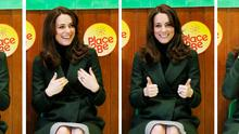 The Duchess of Cambridge as she takes part in a song during an assembly during a visit to the Place2Be charity at Catherine's Primary School on February 24, 2016 in Edinburgh, Scotland. (Photo by Andrew Milligan - WPA Pool/Getty Images)