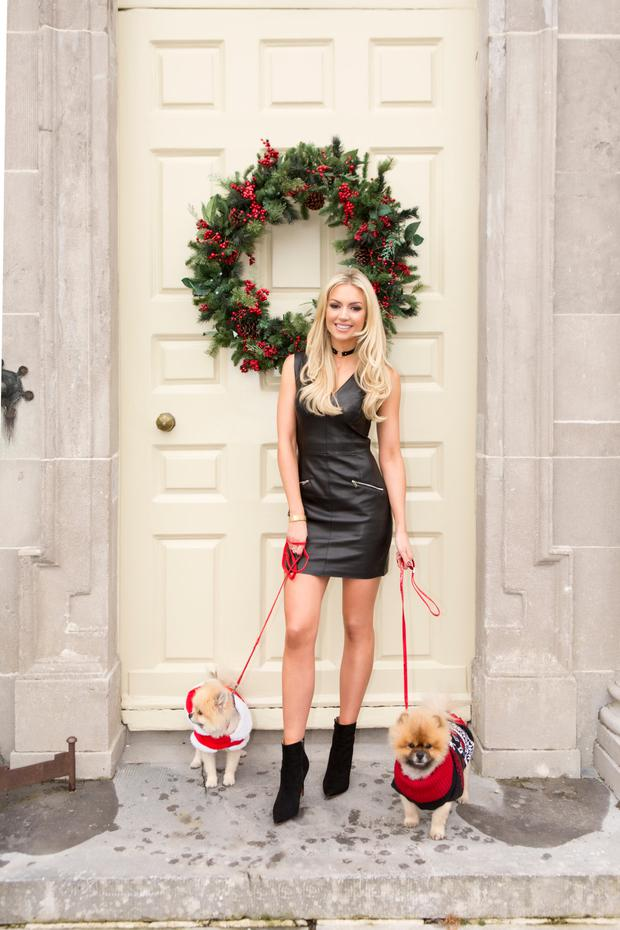 NEW ROLE: Rosanna Davison pictured with her dogs at Christmas, 2016. Photo: Kip Carroll