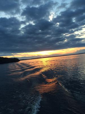 """Lough Ree on the River Shannon is beautifully unpredictable,"" says Ruth O'Brien. ""One day, it's too rough to cross, other days it's calm and still. But it's the sight of the sun setting over the lake that takes your breath away and stays in your thoughts long after, reminding you what true peace and beauty really is..."""
