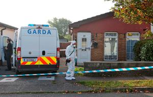 Gardai at the scene on Willowbrook Park, Celbridge Co. Kildare where the body of a man was found last night. A man has been arrested in connection with the incident...Picture Colin Keegan, Collins Dublin.