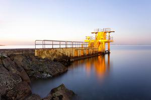Sunrise at  Salthill's iconic diving board