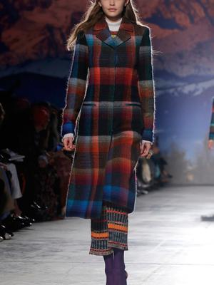 Model Gigi Hadid wears a creation for Missoni women's Fall-Winter 2017-18 collection, in Milan, Italy, Saturday, Feb. 25, 2017. (AP Photo/Luca Bruno).