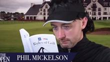 Conor Moore mimicking Phil Mickelson