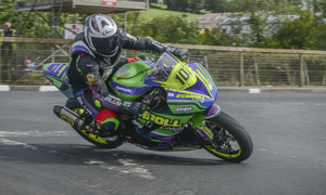 Ballyduff's Anthony O'Carroll competing at the Cookstown 100. It is very rare for any Kerry rider to compete on the open roads. Photo by John Burke Photography
