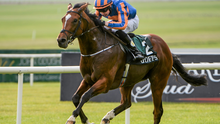 Gleneagles, here winning at the Curragh last season, is fancied to score in today's Newmarket 2,000 Guineas