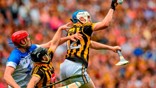 Waterford's Tadhg De Burca, along with Kilkenny pair Richie Hogan and TJ Reid, pictured here during the All-Ireland semi-final, were selected in The Sunday Game's Hurling Team of the Year.