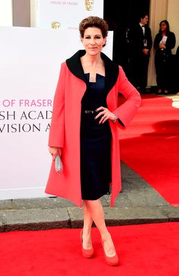 Tamsin Greig arrives for the House of Fraser British Academy of Television Awards at the Theatre Royal, Drury Lane in London. PRESS ASSOCIATION Photo. Picture date: Sunday May 10, 2015. See PA story SHOWBIZ Bafta. Photo credit should read: Ian West/PA Wire