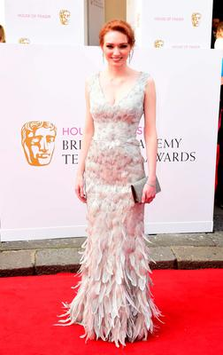 Eleanor Tomlinson arrives for the House of Fraser British Academy of Television Awards at the Theatre Royal, Drury Lane in London. PRESS ASSOCIATION Photo. Picture date: Sunday May 10, 2015. See PA story SHOWBIZ Bafta. Photo credit should read: Ian West/PA Wire