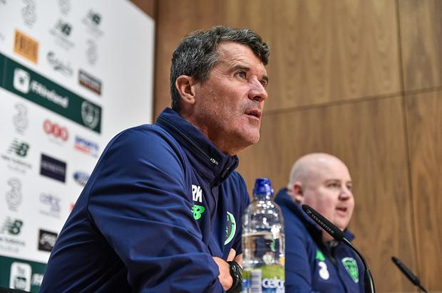 Republic of Ireland assistant manager Roy Keane during a press conference at the FAI NTC in Abbotstown, Dublin. (Photo By David Maher/Sportsfile via Getty Images)