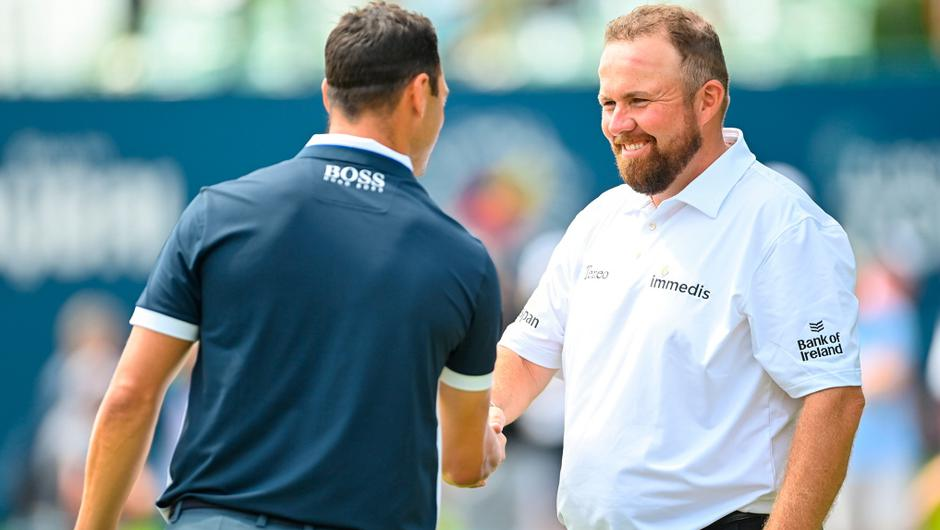 Shane Lowry and Martin Kaymer at Mount Juliet