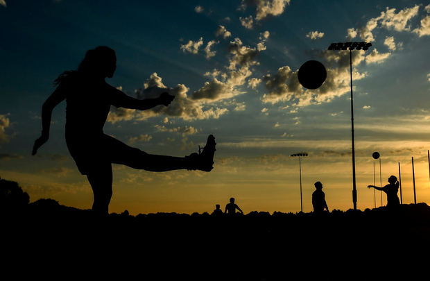 Sinead Quigley in action during a Clontarf GAA club training session at St Anne's Park