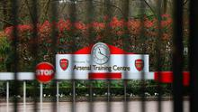 Arsenal have already confirmed their players will return this week to their London Colney training ground but added it will be under a very controlled regime. Photo: Bradley Collyer/PA Wire