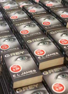 E.L. James' new Grey; Fifty Shades of Grey book at Easons in O'Connell St, Dublin