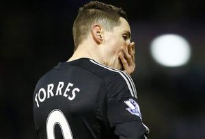 Chelsea's Fernando Torres shows his frustration during their draw against West Brom. Reuters