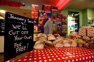Loaves of bread are displayed in the Simply Crispy sandwich cafe in Belfast, northern Ireland January 12, 2015. REUTERS/Cathal McNaughton