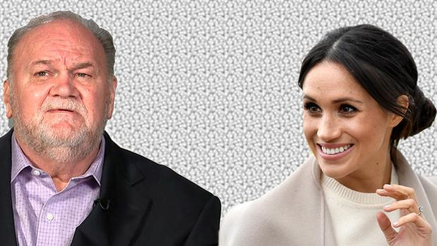 Thomas Markle, left, and Meghan Markle, right
