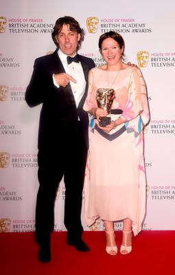 Jessica Hynes with the Female Performance in a Comedy Programme Award for W1A alongside John Bishop at the House of Fraser British Academy of Television Awards at the Theatre Royal, Drury Lane in London. PRESS ASSOCIATION Photo. Picture date: Sunday May 10, 2015. See PA story SHOWBIZ Bafta. Photo credit should read: Ian West/PA Wire