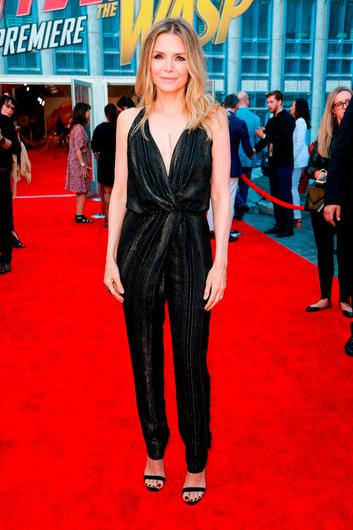 Michelle Pfeiffer attends the premiere of Disney And Marvel's 'Ant-Man And The Wasp' on June 25, 2018 in Hollywood, California.  (Photo by Rich Fury/Getty Images)