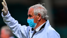 CAUTION: Umpire John Hurley, wearing a mask, looks on during a Limerick SHC match
