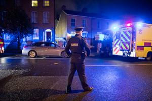 Gardai investigate a murder at a property on Gardiner Street in Dublin. Picture: Arthur Carron