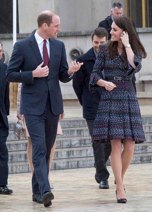 """Catherine, Duchess of Cambridge and Prince William, Duke of Cambridge visit  a """"Les Voisins in Action"""" event highlighting the strong ties between the young people of France and the UK during an official two-day visit to Paris on March 18, 2017 in Paris, France. Their Royal Highnesses met local school children and students from the British Council's Somme project and young learners programmes, as well as young French rugby fans ahead of the RBS Six Nations match that afternoon. (Photo by Arthur Edwards-Pool/Getty Images)"""