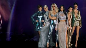 The K club... Kris Jenner and her daughters Kylie, Khloe, Kim, Kourtney and Kendall