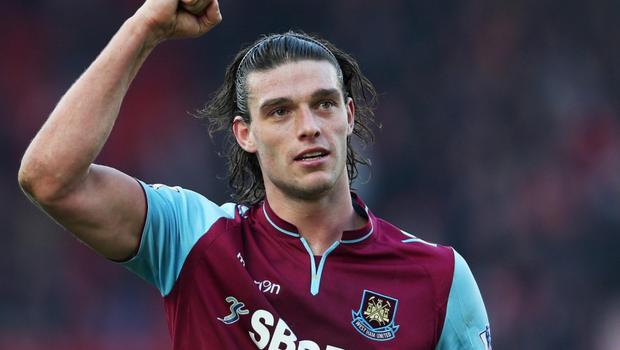 Stoke City v West Ham United - Barclays Premier League...Football - Stoke City v West Ham United - Barclays Premier League  - The Britannia Stadium - 2/3/13  West Ham's Andy Carroll celebrates at the end of the match  Mandatory Credit: Action Images / Matthew Childs  Livepic  EDITORIAL USE ONLY. No use with unauthorized audio, video, data, fixture lists, club/league logos or ?live? services. Online in-match use limited to 45 images, no video emulation. No use in betting, games or single club/league/player publications.  Please contact your account representative for further details.