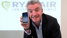 Michael O'Leary, Chief Executive of Ryanair at the launch of their new App. Photo: Damien Eagers